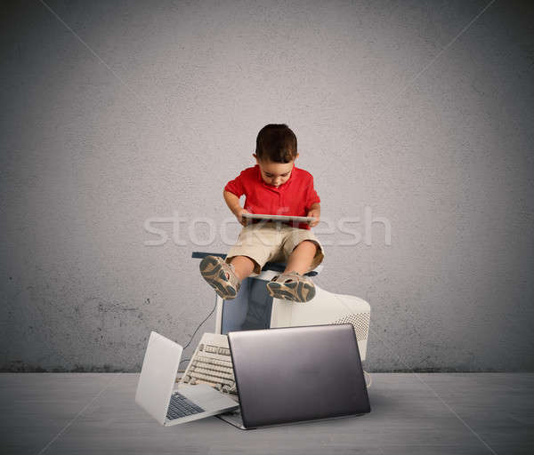 Harmful technology for the growth of the child Stock photo © alphaspirit