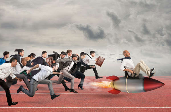 Overcome and achieve success Stock photo © alphaspirit