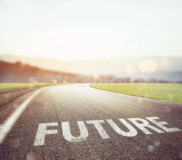Road leading to the future Stock photo © alphaspirit