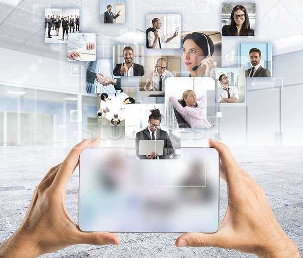 Gerente equipo equipo de negocios negocios ordenador reunión Foto stock © alphaspirit