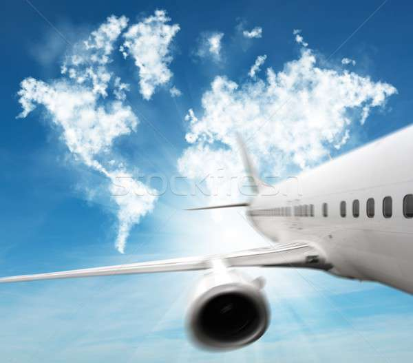 Turn the whole world with an aircraft Stock photo © alphaspirit