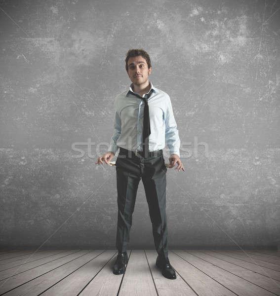 Nincs pénz üzletember pénz férfi munka bank Stock fotó © alphaspirit