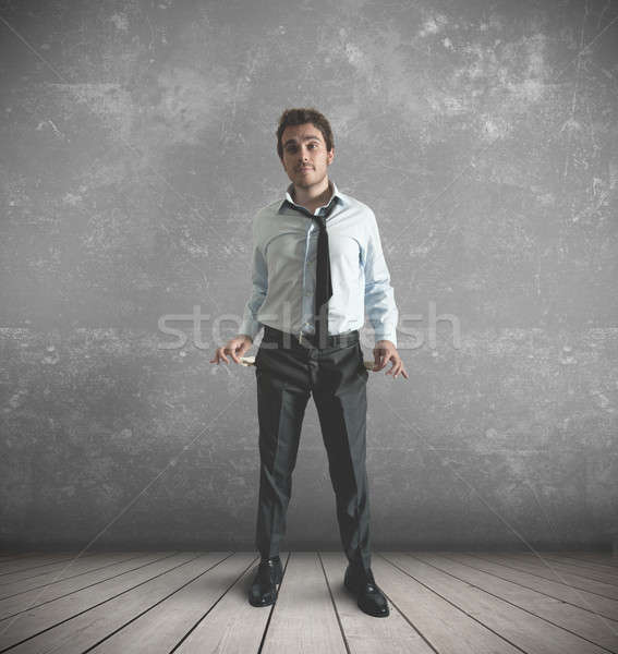нет денег бизнесмен деньги человека работу банка Сток-фото © alphaspirit