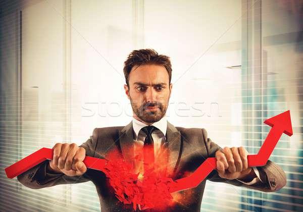 Stop financial trends Stock photo © alphaspirit