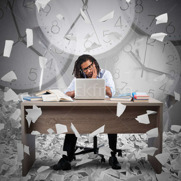 Overworked and overtime Stock photo © alphaspirit