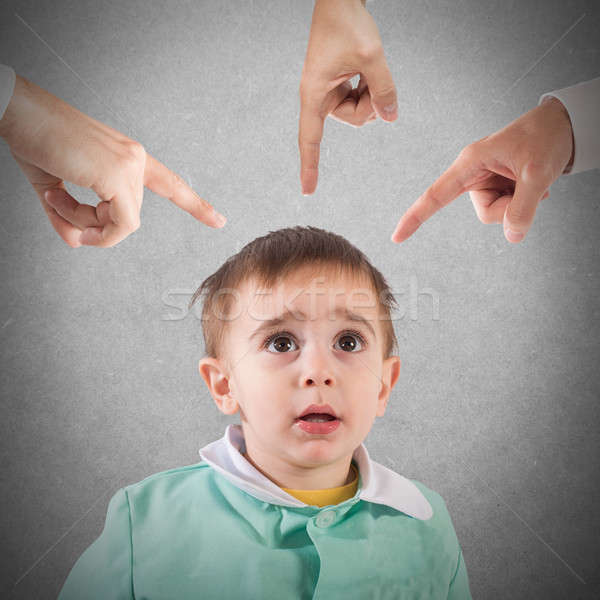 Reprimanded child Stock photo © alphaspirit
