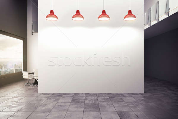 3D Rendering modernen Büro Lampen Business Stock foto © alphaspirit