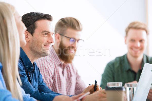 Uomini d'affari internet rete avvio società ufficio Foto d'archivio © alphaspirit