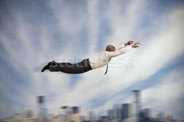 Battant affaires pouvoir affaires ville Photo stock © alphaspirit