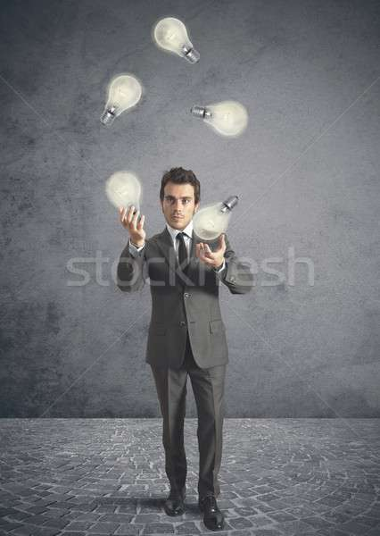 Juggler genius Stock photo © alphaspirit