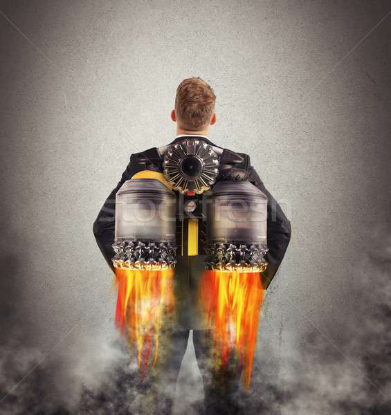 Businessman turbo fly Stock photo © alphaspirit