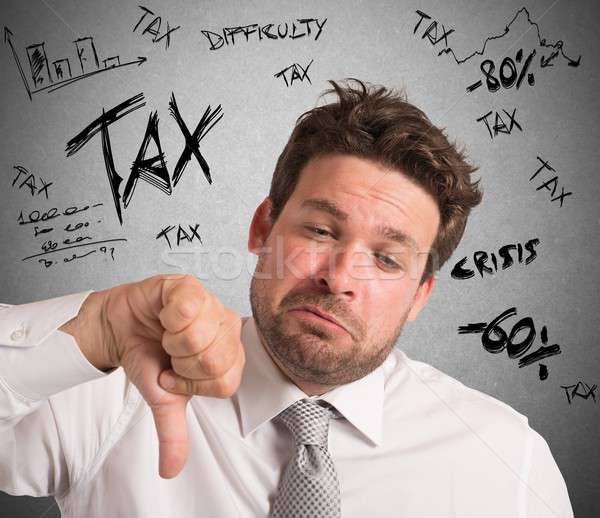 Frustration for taxes Stock photo © alphaspirit