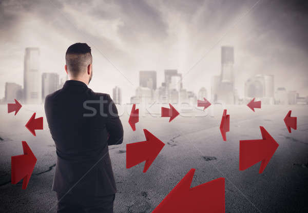 3D Rendering directions for future of a businessman career Stock photo © alphaspirit