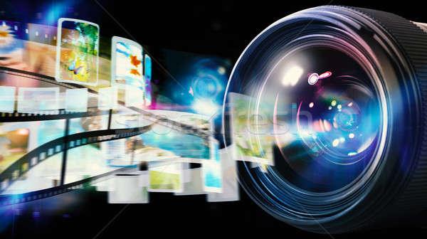 Professional camera lens Stock photo © alphaspirit