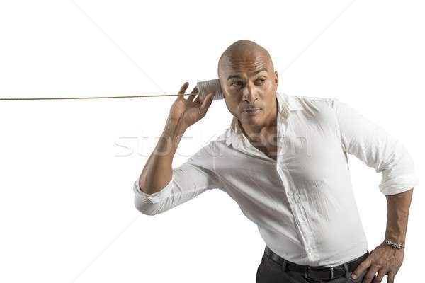 Vieux rétro communication affaires téléphone téléphone Photo stock © alphaspirit