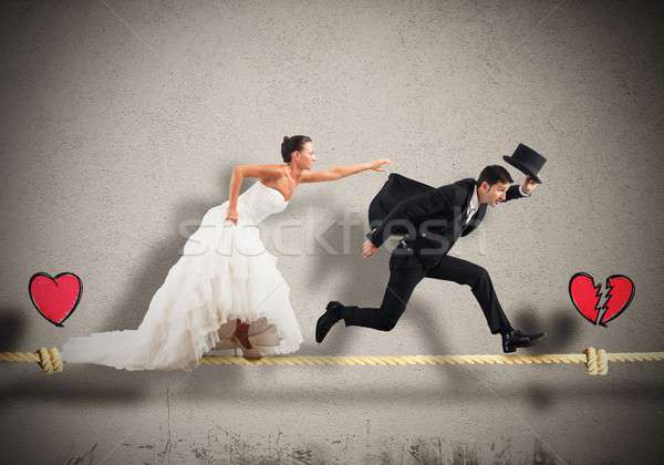 Stage a failed marriage Stock photo © alphaspirit