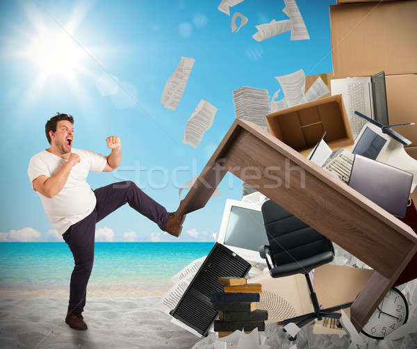 Stressful job need holidays Stock photo © alphaspirit