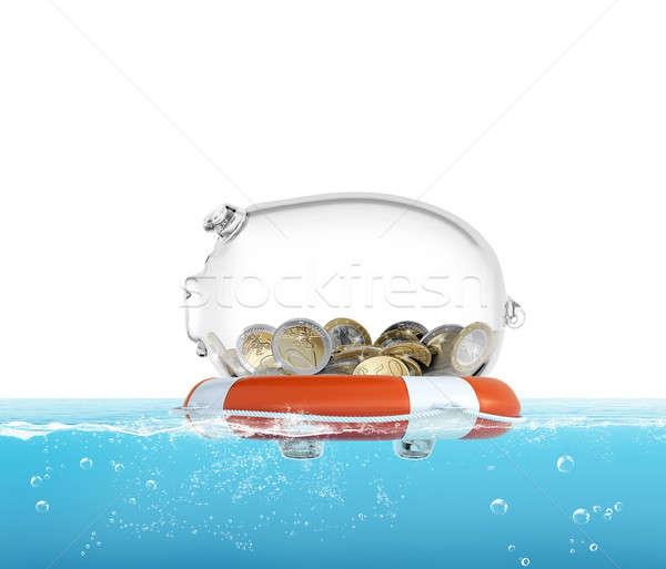Lifebelt for money 3d rendering Stock photo © alphaspirit