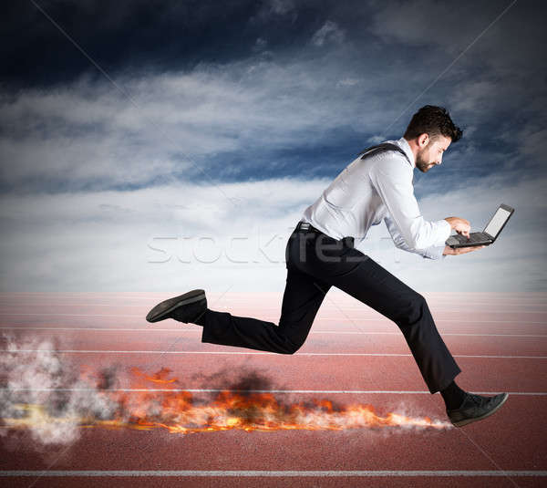 Fast business concept Stock photo © alphaspirit
