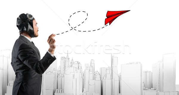 Startup trabalhando empresa empresário pequeno Foto stock © alphaspirit