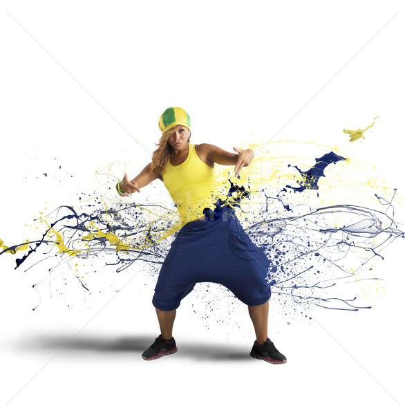 ラップ ダンサー 現代 ドロップ 運動 効果 ストックフォト © alphaspirit