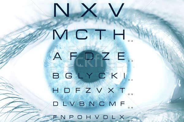 испытание видение диаграммы глаза макроса стекла Сток-фото © alphaspirit