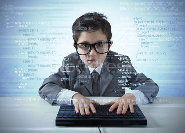 Young programmer Stock photo © alphaspirit