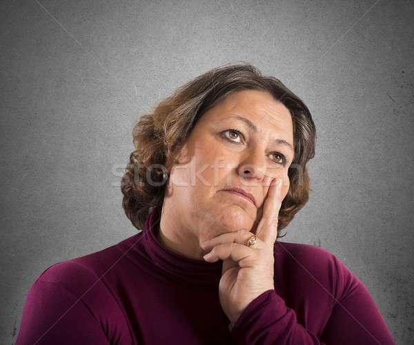 женщину мышления портрет работу помочь работник Сток-фото © alphaspirit