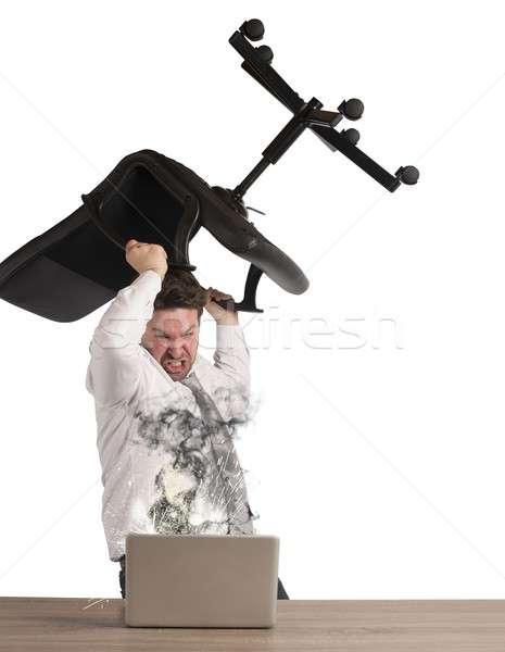Businessman breaks breakdown pc Stock photo © alphaspirit