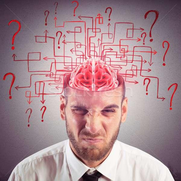 путать мозг бизнесмен лабиринт вопросы человека Сток-фото © alphaspirit