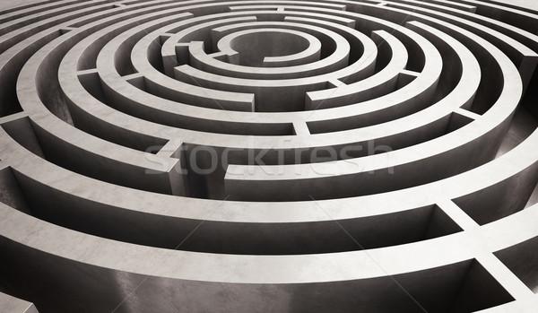 Difficile labirinto immagine puzzle questione Foto d'archivio © alphaspirit