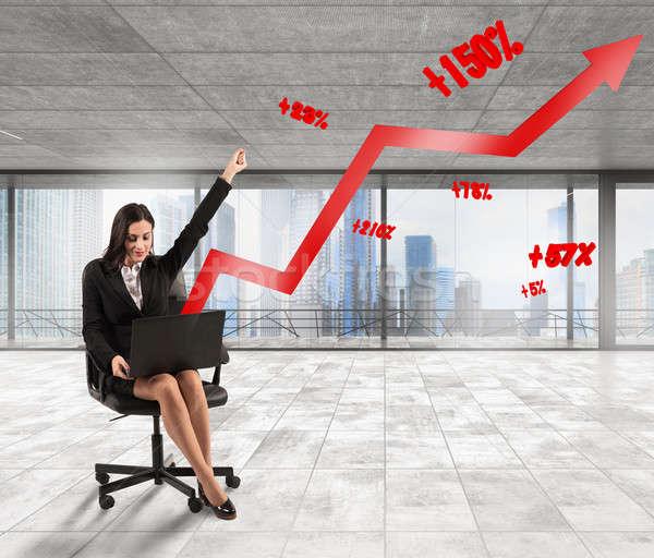 Increased percentage statistics Stock photo © alphaspirit
