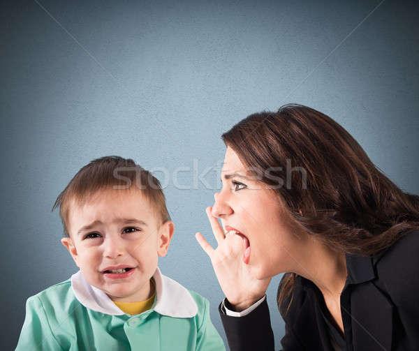 Scold a child Stock photo © alphaspirit