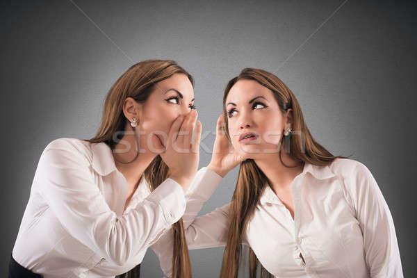 Konuşmak kadın gibi düşünme konuşmak güven Stok fotoğraf © alphaspirit