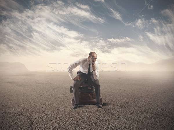 Lost Businessman Stock photo © alphaspirit