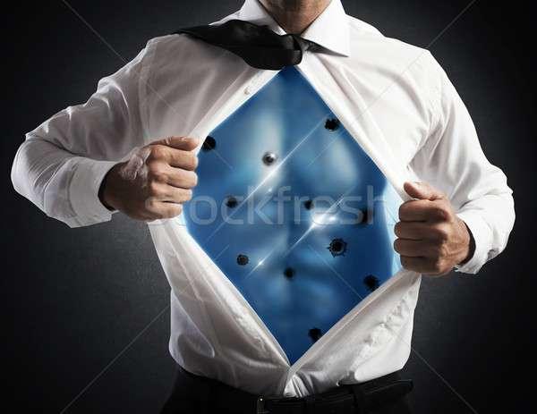 Invincible businessman Stock photo © alphaspirit