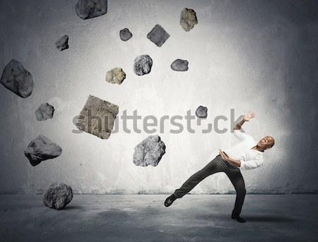 путать человека бизнесмен алфавит письма бумаги Сток-фото © alphaspirit