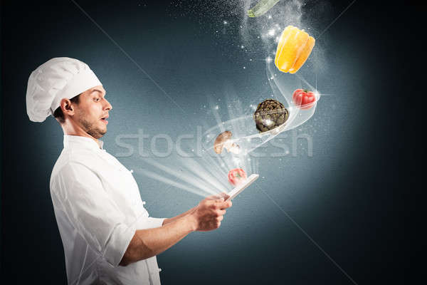 Magic cooking recipes on the web Stock photo © alphaspirit