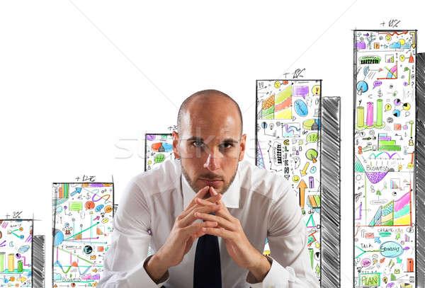 Confident and successful businessman Stock photo © alphaspirit
