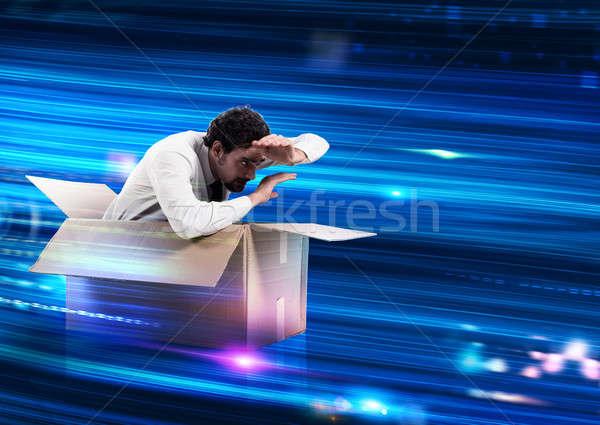 速度 ウェブ 接続 男 線 ストックフォト © alphaspirit