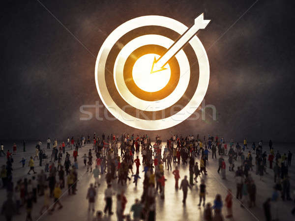 Arrive at a goal of success. 3D Rendering Stock photo © alphaspirit