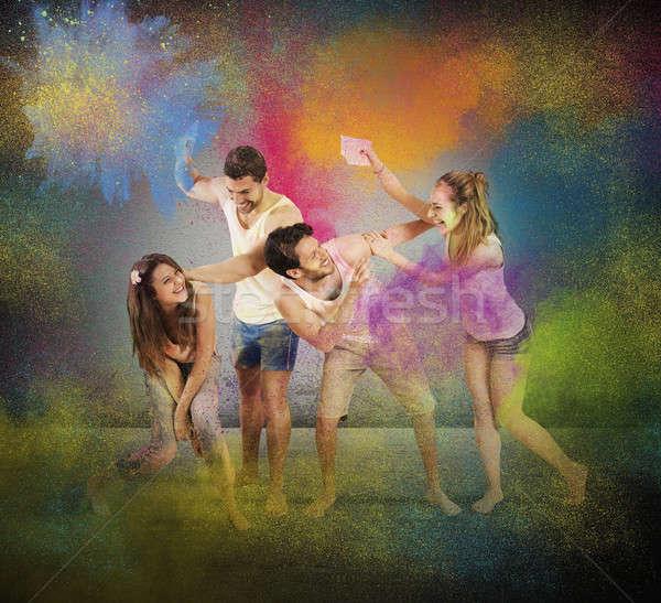 Funny coloured entertainment Stock photo © alphaspirit