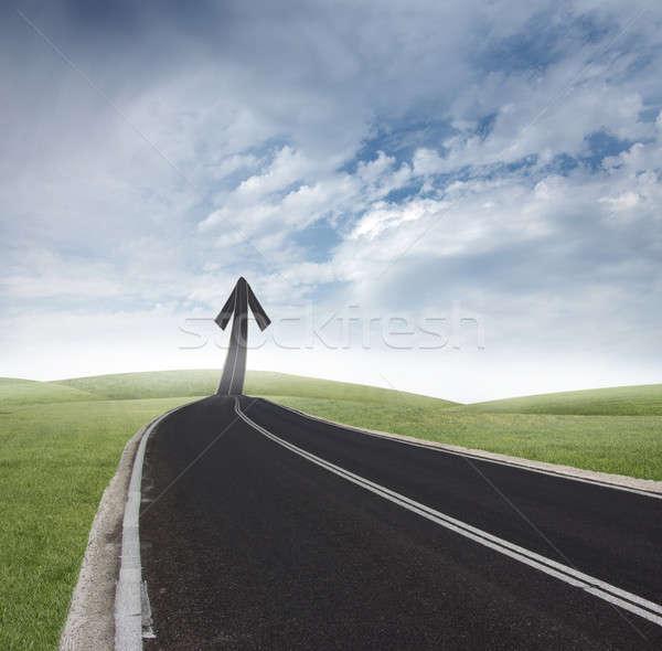 Stockfoto: Succes · manier · business · weg · veld · snelweg