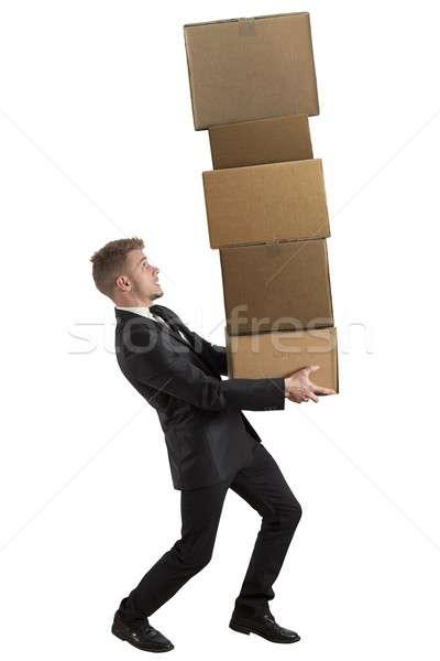 трудный карьеру бизнесмен бизнеса работник работу Сток-фото © alphaspirit