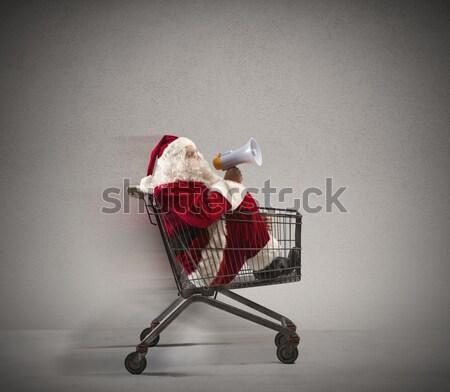 高速 サンタクロース 発表 ショッピングカート 男 眼鏡 ストックフォト © alphaspirit