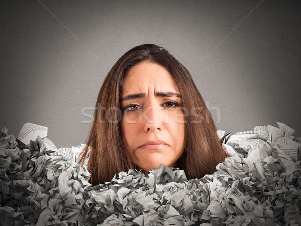Stressful mountain of paperwork Stock photo © alphaspirit