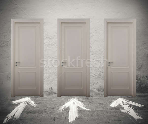 Choose the right door Stock photo © alphaspirit