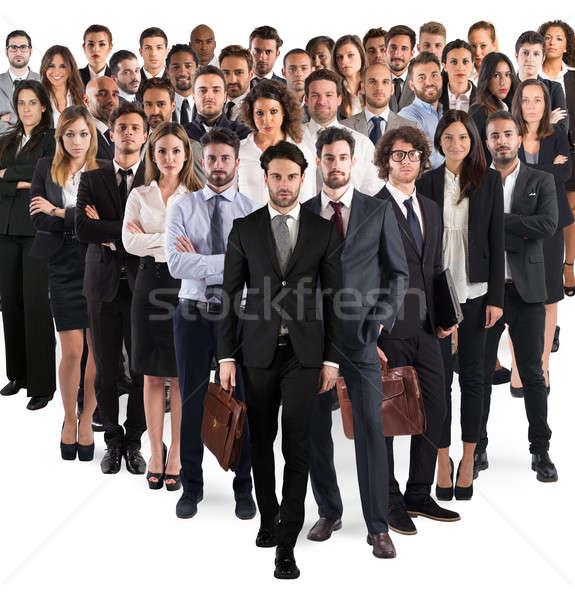 Photo stock: équipe · commerciale · entreprise · groupe · hommes · femmes · gens · d'affaires