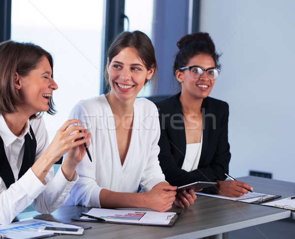 Team of business person works together Stock photo © alphaspirit
