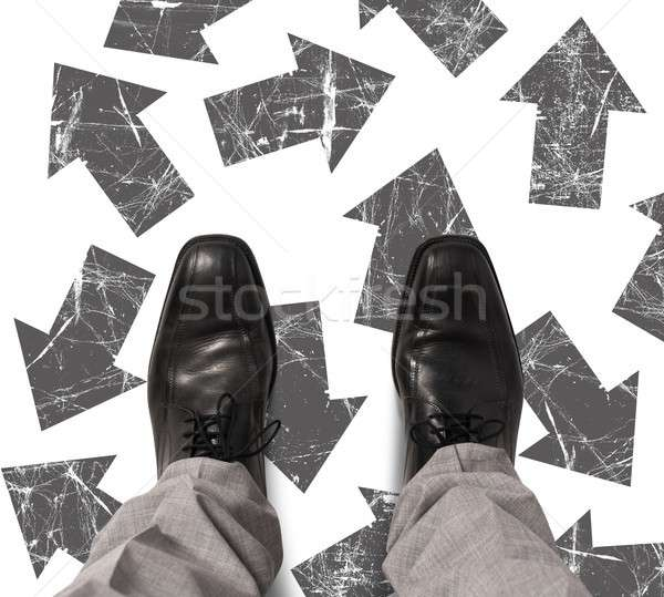 Undecided businessman Stock photo © alphaspirit